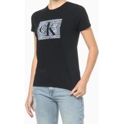 Blusa Feminina Slim CK Animal Print Preta Calvin Klein Jeans - G found on Bargain Bro India from Calvin Klein BR for $63.21