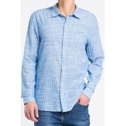 Camisa ML Reg Listr V S Bols Amac - Lilás - P found on Bargain Bro from Calvin Klein BR for USD $133.69