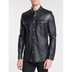 Camisa Ckj Masc Couro - Preto - P found on Bargain Bro from Calvin Klein BR for USD $727.67