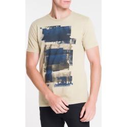 Camiseta Ckj Mc Florest - Caqui Claro - PP found on Bargain Bro from Calvin Klein BR for USD $53.63