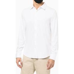 Camisa Manga Longa Em Liquid Cotton - Branco - P found on Bargain Bro from Calvin Klein BR for USD $148.59