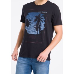 Camiseta Masculina High Summer Preta Calvin Klein Jeans - PP found on Bargain Bro from Calvin Klein BR for USD $53.63