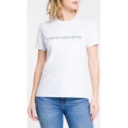 Blusa Feminina Slim Logo Gravado Branca Calvin Klein Jeans - P found on Bargain Bro India from Calvin Klein BR for $78.72