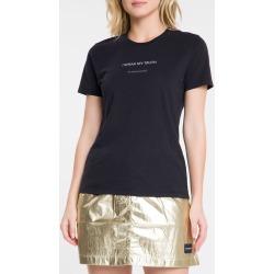 Blusa Feminina Slim I Speak My Truth Preta Calvin Klein Jeans - PP found on Bargain Bro India from Calvin Klein BR for $44.10