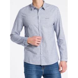 Camisa ML Slim Jacq S Bols Amac - Azul Marinho - P found on Bargain Bro from Calvin Klein BR for USD $133.69