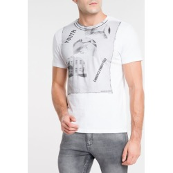 Camiseta Ckj Mc Faces Of Youth - Branco - PP found on Bargain Bro from Calvin Klein BR for USD $53.63