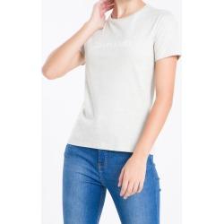 Camiseta Gola Careca Calvin Klein - Cinza Mescla - PP found on Bargain Bro from Calvin Klein BR for USD $51.76