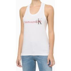 Blusa Regata Feminina Nadador CK Branca Calvin Klein Jeans - P found on Bargain Bro India from Calvin Klein BR for $58.31