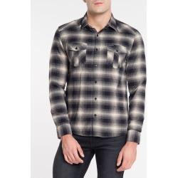 Camisa Ml Reg Xadr Flan West N/D - Preto - P found on Bargain Bro from Calvin Klein BR for USD $105.76