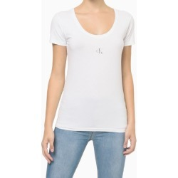 Blusa MC Slim Cot Reat Gc Logo - Branco - PP found on Bargain Bro India from Calvin Klein BR for $63.21