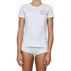 Camiseta Fem Gola Careca Alg Icon Cotton - Branco - S found on Bargain Bro from Calvin Klein BR for USD $48.04