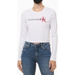Camiseta Ml Ckj Em Logo Ck Lateral - Branco - P found on Bargain Bro from Calvin Klein BR for USD $66.66