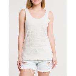 Blusa Ckj Fem Foil Sleeveless - Off White Blusa Ckj Fem Foil Sleeveless - Off White - PP found on Bargain Bro India from Calvin Klein BR for $60.76