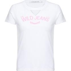 Blusa M/C Ckj Wild Jeans - Branco - 8 found on Bargain Bro India from Calvin Klein BR for $31.36