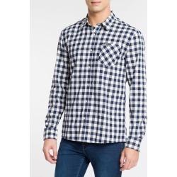 Camisa Ml Reg Xadr Cbols Amac - Marinho - P found on Bargain Bro from Calvin Klein BR for USD $98.69