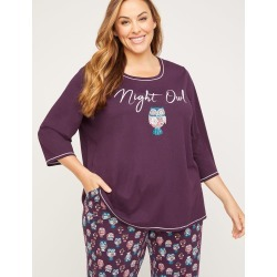 Night Owl Cotton Sleep Top found on Bargain Bro India from Catherines for $34.95