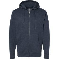 Independent Trading Co. - Midweight Full-Zip Hooded Sweatshirt - SS4500Z - Classic Navy Heather - Medium found on Bargain Bro Philippines from clothing shop online for $14.03