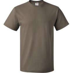 Fruit of the Loom - HD Cotton Short Sleeve T-Shirt - 3930R - Safari - Medium found on Bargain Bro from clothing shop online for USD $1.78