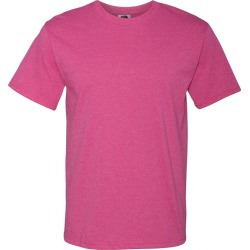 Fruit of the Loom - HD Cotton Short Sleeve T-Shirt - 3930R - Retro Heather Pink - 5X-Large found on Bargain Bro from clothing shop online for USD $6.22