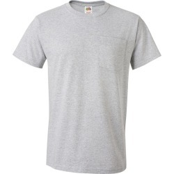 Fruit of the Loom - HD Cotton T-Shirt with a Pocket - 3930PR - Athletic Heather - Medium found on Bargain Bro from clothing shop online for USD $4.37