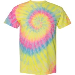 Dyenomite - Multi-Color Spiral Short Sleeve T-Shirt - 200MS - Dayglo - Medium found on Bargain Bro Philippines from clothing shop online for $6.98