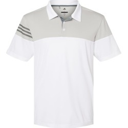 Adidas - Heathered 3-Stripes Colorblock Sport Shirt - A213 - White/ Vista Grey - 4X-Large found on Bargain Bro Philippines from clothing shop online for $60.00
