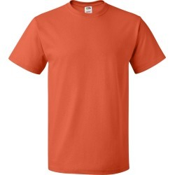 Fruit of the Loom - HD Cotton Short Sleeve T-Shirt - 3930R - Burnt Orange - 2X-Large found on Bargain Bro from clothing shop online for USD $4.08