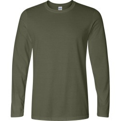 Gildan - Softstyle� Long Sleeve T-Shirt - 64400 - Military Green - 2X-Large found on Bargain Bro Philippines from clothing shop online for $7.54