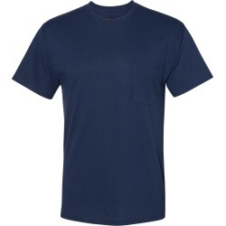 Hanes - Workwear Short Sleeve Pocket T-Shirt - W110 - Navy - X-Large found on Bargain Bro Philippines from clothing shop online for $6.09