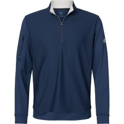 Adidas - Performance Textured Quarter-Zip Pullover - A295 - Collegiate Navy - Medium found on Bargain Bro Philippines from clothing shop online for $75.00