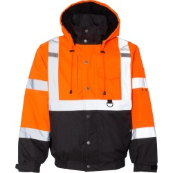 Kishigo - Ripstop Bomber Jacket - JS130-131 - Orange/ Black - Large found on Bargain Bro Philippines from clothing shop online for $42.79