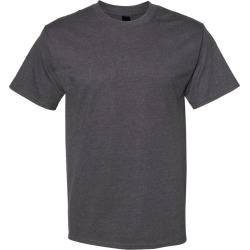 Hanes - Beefy-T� Short Sleeve T-Shirt - 5180 - Charcoal Heather - Medium found on Bargain Bro Philippines from clothing shop online for $8.00