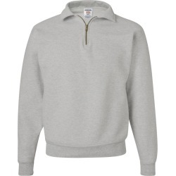 JERZEES - Super Sweats NuBlend� Quarter-Zip Cadet Collar Sweatshirt - 4528MR - Oxford - 3X-Large found on Bargain Bro Philippines from clothing shop online for $25.09