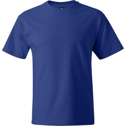 Hanes - Beefy-T� Tall Short Sleeve T-Shirt - 518T - Deep Royal - Large Tall found on Bargain Bro Philippines from clothing shop online for $6.74