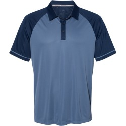 Adidas - Jacquard Raglan Sport Shirt - A207 - Collegiate Navy/ Tech Ink - 4X-Large found on Bargain Bro from clothing shop online for USD $49.40