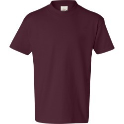 Hanes - Authentic Youth Short Sleeve T-Shirt - 5450 - Maroon - Medium found on Bargain Bro Philippines from clothing shop online for $2.46