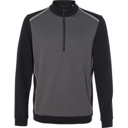 Adidas - Quarter-Zip Birdseye Fleece Pullover - A277 - Black - X-Large found on Bargain Bro from clothing shop online for USD $47.58