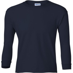 Gildan - Ultra Cotton� Youth Long Sleeve T-Shirt - 2400B - Navy - X-Large found on Bargain Bro Philippines from clothing shop online for $6.36
