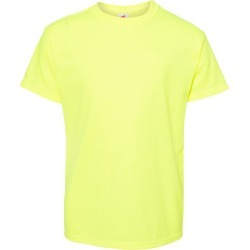 Hanes - Ecosmart� Youth Short Sleeve T-Shirt - 5370 - Safety Green - Medium found on Bargain Bro Philippines from clothing shop online for $2.47