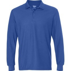 Gildan - DryBlend� Double Piqu� Long Sleeve Sport Shirt - 72900 - Royal - Small found on Bargain Bro Philippines from clothing shop online for $11.24