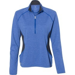 Adidas - Women's Lightweight Quarter-Zip Pullover - A281 - Collegiate Royal Heather/ Carbon - Medium found on Bargain Bro from clothing shop online for USD $38.00