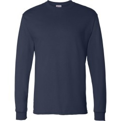 Hanes - ComfortSoft� Long Sleeve T-Shirt - 5286 - Navy - Small found on Bargain Bro from clothing shop online for USD $4.16