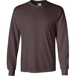 Gildan - Ultra Cotton� Long Sleeve T-Shirt - 2400 - Dark Chocolate - 4X-Large found on Bargain Bro Philippines from clothing shop online for $11.14