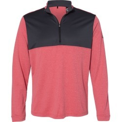 Adidas - Lightweight Quarter-Zip Pullover - A280 - Power Red Heather/ Carbon - 2X-Large found on Bargain Bro from clothing shop online for USD $38.00