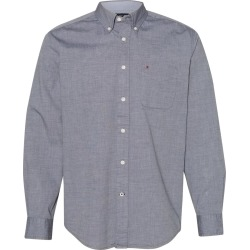Tommy Hilfiger - Capote End-on-End Chambray Shirt - 13H1861 - Navy Blazer - 2X-Large found on Bargain Bro Philippines from clothing shop online for $30.13