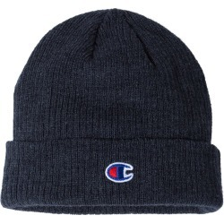Champion - Ribbed Knit Cap - CS4003 - Heather Navy - One Size found on Bargain Bro Philippines from clothing shop online for $7.27