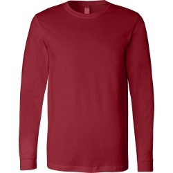 BELLA + CANVAS - Unisex Jersey Long Sleeve Tee - 3501 - Cardinal - XS - X-Small found on Bargain Bro from clothing shop online for USD $5.20