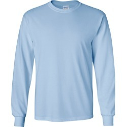 Gildan - Ultra Cotton� Long Sleeve T-Shirt - 2400 - Light Blue - 5X-Large found on Bargain Bro Philippines from clothing shop online for $11.14