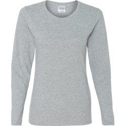 Gildan - Heavy Cotton� Women�s Long Sleeve T-Shirt - 5400L - Sport Grey - X-Large found on Bargain Bro Philippines from clothing shop online for $5.48