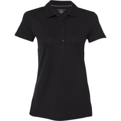 Tommy Hilfiger - Women's Classic Fit Ivy Piqu� Sport Shirt - 13H4534 - Deep Knit Black - Medium found on Bargain Bro Philippines from clothing shop online for $22.67